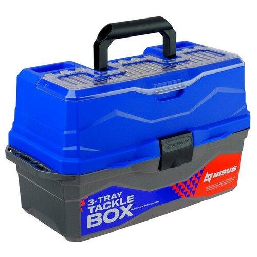 Ящик для рыбалки Nisus N-TB-3 44.5х25х22 см синий