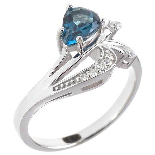 Фото - Balex Кольцо 1405936466 из серебра 925 пробы с топазом Лондон и фианитом, размер 17 element47 кольцо из серебра 925 пробы с топазами лондон r32560h 7 ko lt wg размер 17 25