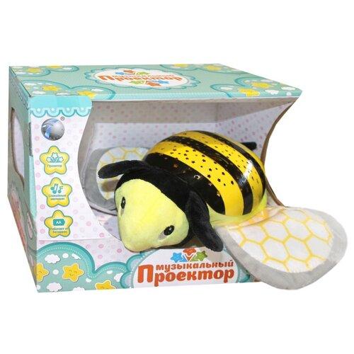 Ночник детский Музыкальный проектор TONGDE Пчелка, световой эффект, мелодии.