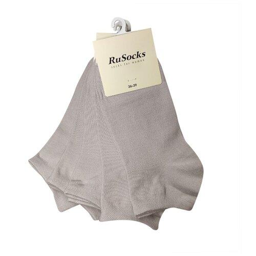 Набор бежевых (молочных) коротких женских носков, 5 шт, р-р 36-39