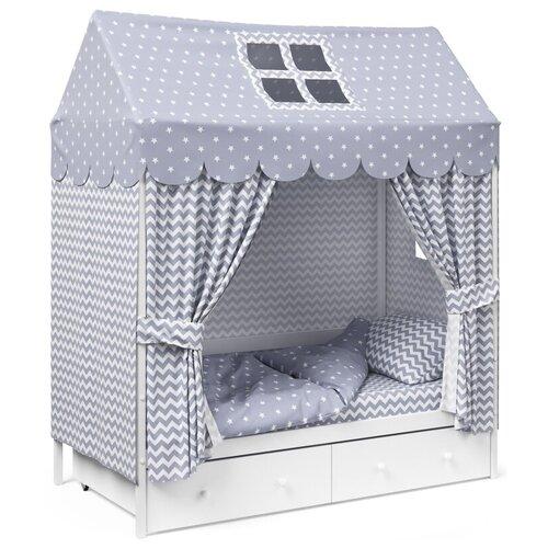 Детское постельное белье Капризун домик Серый комплекты в кроватку капризун домик 11 предметов