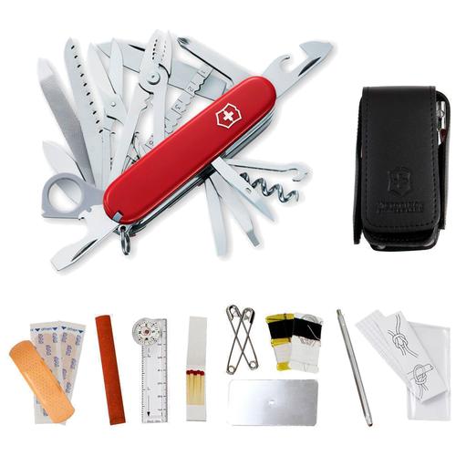 Набор с ножом VICTORINOX SOS-Set (1.8810) с чехлом красный