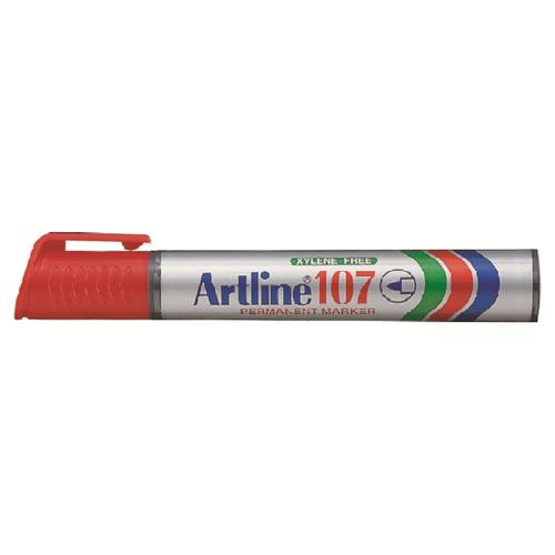 Купить Маркер перманентный, водостойкий Artline EK107, (1, 5 мм) красный, Маркеры