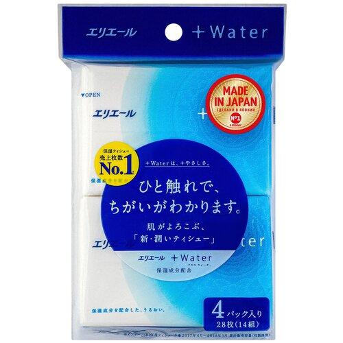Платочки Elleair +Water, 56 шт.