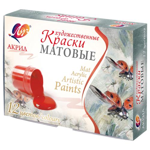 Купить Луч Краски акриловые художественные матовые 12 цветов х 20 мл (29С 1747-08)