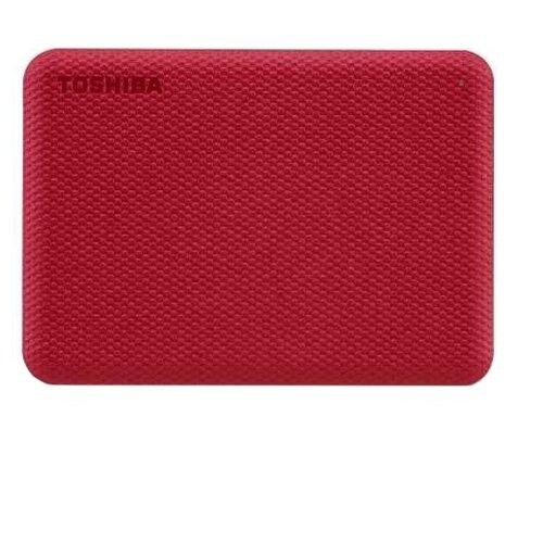 Внешний HDD Toshiba Canvio Advance 1 ТБ красная клетка