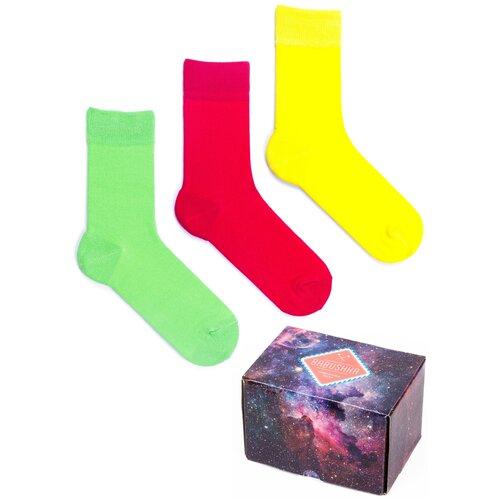 Цветные носки Babushka, набор носков с принтом, 3 пары в коробке, размер 36-39, CGB-12
