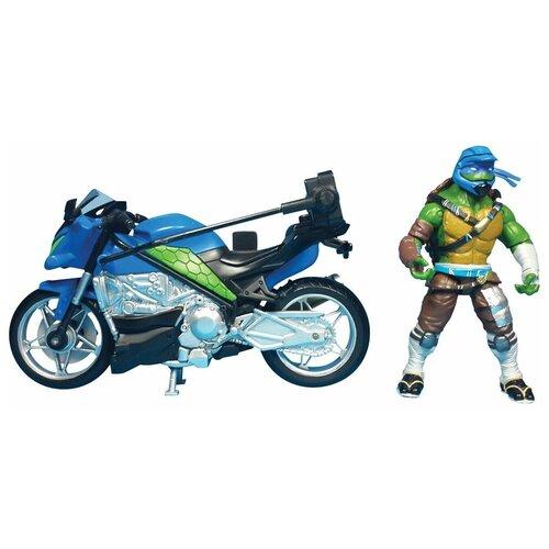 Игровой набор Playmates TOYS TMNT Movie Line 2016 Мотоцикл с фигуркой Лео 89301T
