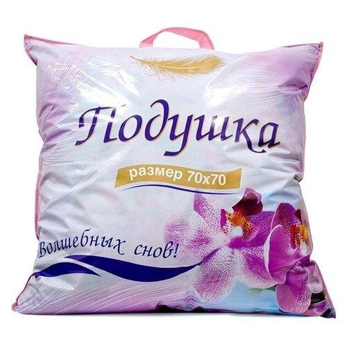 Подушка Сирень 50/70 0,6 кг габардин с цветочным принтом