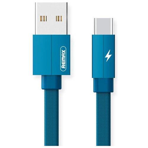 Кабель Remax Kerolla USB - microUSB (RC-094m) 1 м, синий кабель remax kerolla usb apple lightning rc 094i 1 м белый