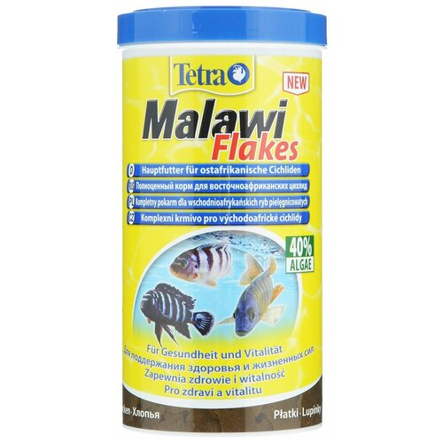 Фото - Сухой корм для рыб Tetra Malawi Flakes 1000 мл сухой корм для рыб tetra tetramin xl flakes 1000 мл