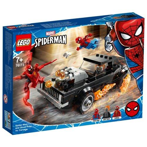 Купить Конструктор LEGO Marvel Super Heroes 76173 Человек-Паук и Призрачный Гонщик против Карнажа, Конструкторы