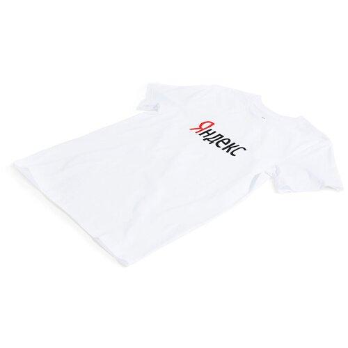 Футболка Большой Яндекс (размер XS), белый платье oodji ultra цвет красный белый 14001071 13 46148 4512s размер xs 42 170