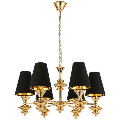 Люстра ST Luce Rionfo SL1137.203.06, E14, 240 Вт, кол-во ламп: 6 шт., цвет арматуры: золотой, цвет плафона: черный недорого