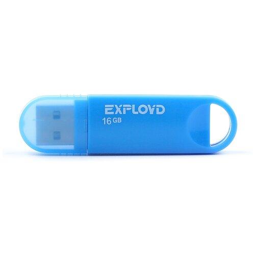 Фото - Флешка EXPLOYD 570 16 GB, blue флешка exployd 570 32gb blue
