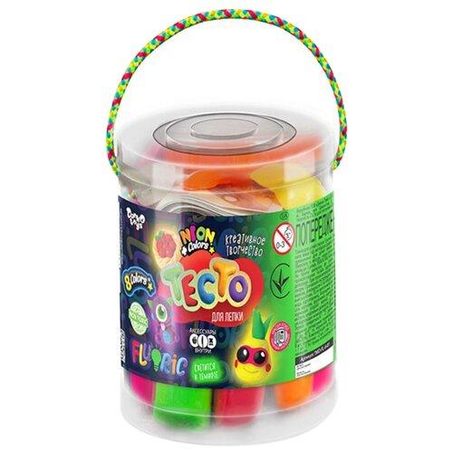 Купить Масса для лепки Danko Toys Master Do Fluoric, 8 цветов, светится в темноте TMD-FL-08-01(), Пластилин и масса для лепки