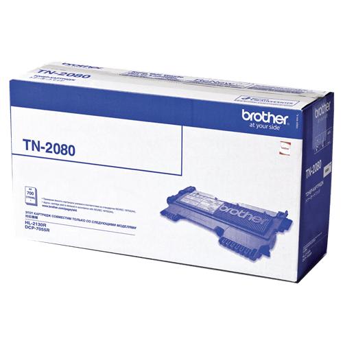 Фото - Тонер Brother TN2080 для HL-2130R, DCP-7055R, DCP-7055WR 700 стр. лента для факса brother pc72rf black 2 х 144 стр для fax1280 1980 560 t72 t74 t76 t78 t84 t86 727 737mc