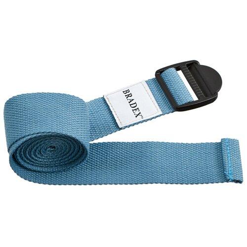 Фото - Ремень для йоги BRADEX SF 0410/SF 0411/SF 0412 бирюзовый блок для йоги bradex sf 0407 sf 0408 sf 0409 серый