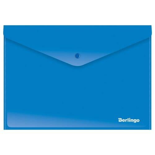 Купить Berlingo Папка-конверт на кнопке А4, пластик 180 мкм, 12 шт. (AKk_04401), Файлы и папки