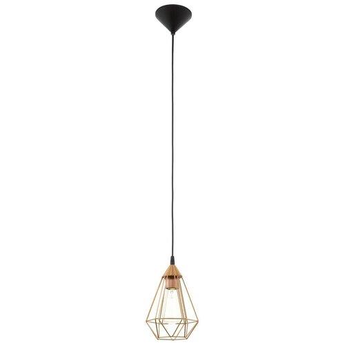Потолочный светильник Eglo Tarbes 94193, E27, 60 Вт, цвет арматуры: черный потолочный светильник eglo 94635 e27 60 вт