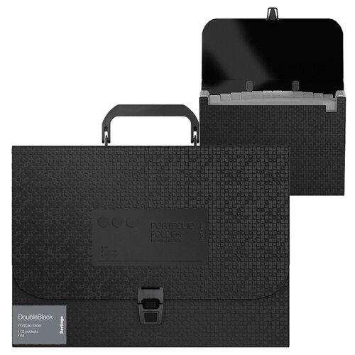 Купить Berlingo Папка-портфель 13 отделений DoubleBlack А4 черный, Файлы и папки