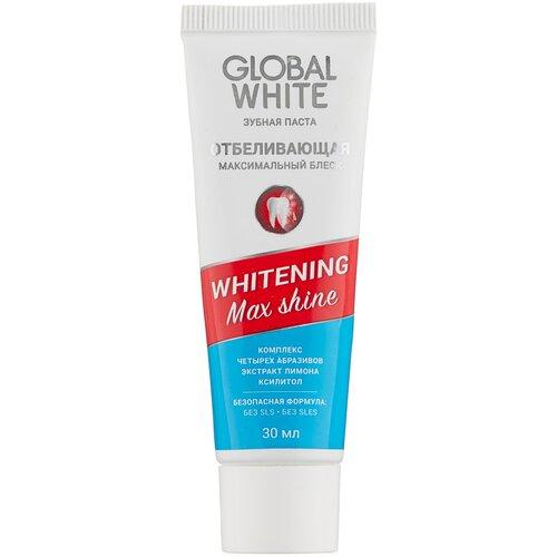 Зубная паста Global White Отбеливающая Max Shine, 30 мл
