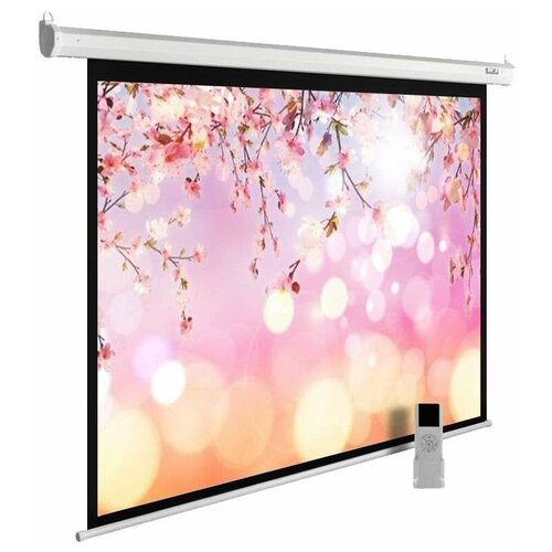 Рулонный матовый белый экран cactus MotoExpert CS-PSME-220x220-WT