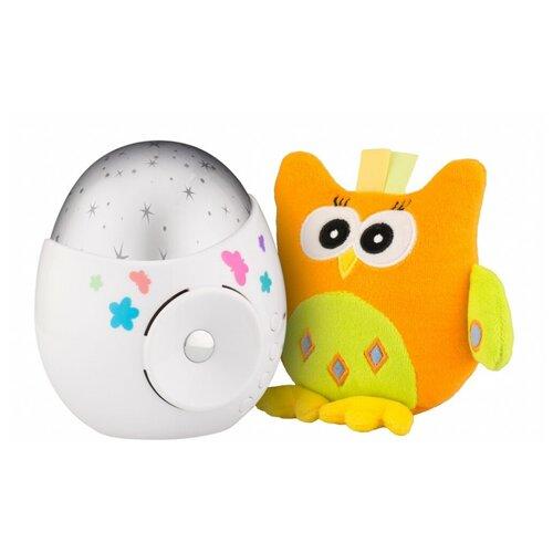 Ночник-проектор ROXY-KIDS Colibri с совой (R-SA99B), цвет арматуры: белый, цвет плафона: серебристый ночник проектор roxy kids colibri с совой r sa99b