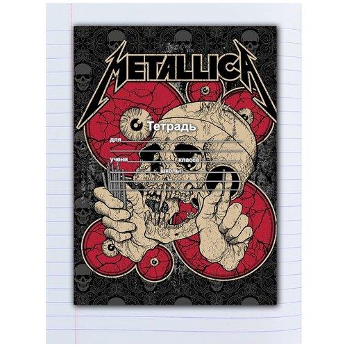 Купить Набор тетрадей 5 штук, 12 листов в линейку с рисунком Metallica Череп, Drabs, Тетради