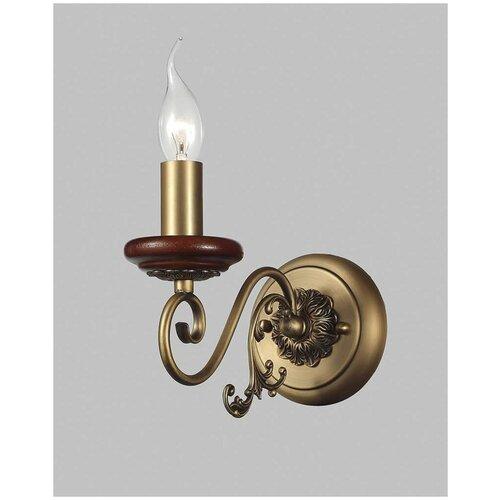 Настенный светильник Люмьен Холл Изабела W17013/1PCC, E14, 60 Вт, кол-во ламп: 1 шт., цвет арматуры: бронзовый