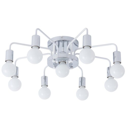 Фото - Люстра Arte Lamp Gelo A6001PL-7WH, E27, 280 Вт, кол-во ламп: 7 шт., цвет арматуры: хром люстра потолочная arte lamp gelo a6001pl 9bk