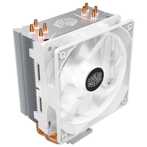Кулер для процессора Cooler Master Hyper 212 LED White Edition серебристый/белый/белый кулер для процессора cooler master hyper 212 led turbo red top cover