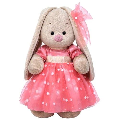 Мягкая игрушка Зайка Ми в розовом платье 32 см