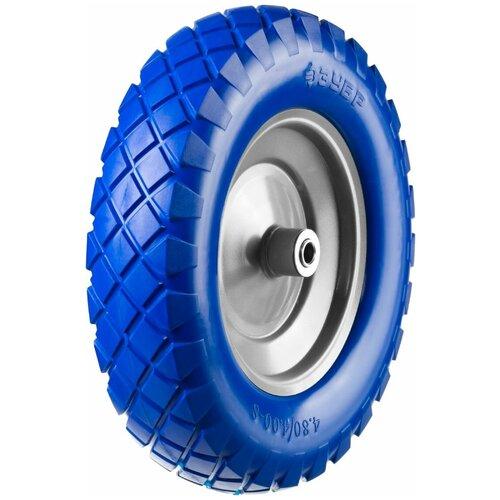 Фото - Колесо для тачки ЗУБР полиуретановое (39912-2) 380 мм колесо для тачки зубр 380х16мм полиуретановое 39912 2