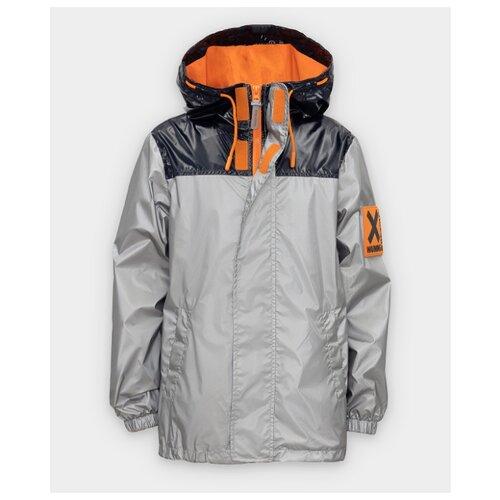 Купить Ветровка Button Blue размер 134, серый, Куртки и пуховики