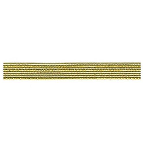 Купить Резинка продежка 6, 5 мм, цвет золотистый люрекс 63% латекс, 37% металлизированное волокно, PEGA, Технические ленты и тесьма