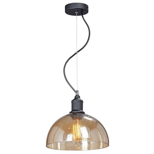 Фото - Светильник Vitaluce V4850-1/1S, E27, 40 Вт, кол-во ламп: 1 шт., цвет арматуры: черный, цвет плафона: коричневый светильник vitaluce v4849 1 1s e27 40 вт