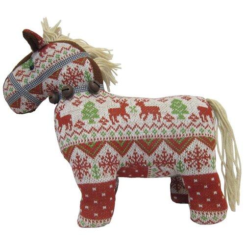 Мягкая игрушка Snowmen Лошадь коричневая 29 см