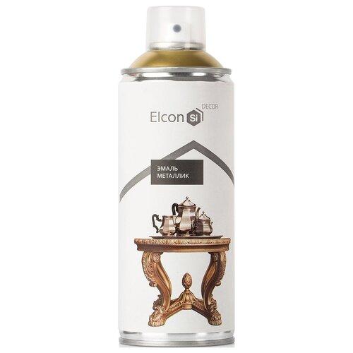 Эмаль Elcon Decor декоративная металлик, зеркальное золото, 520 мл