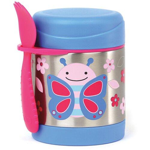 Термос для еды SKIP HOP Zoo Butterfly, 0.325 л голубой