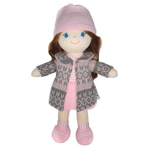 Фото - Мягкая игрушка ABtoys Кукла рыжая в розовом пальто 36 см мягкая игрушка abtoys кукла рыжая в голубом платье 20 см