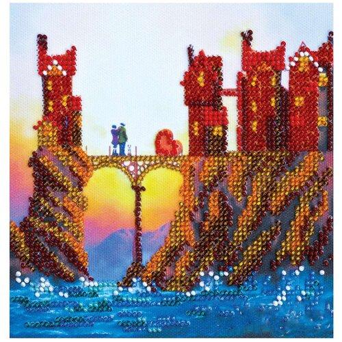 Купить ABRIS ART Набор для вышивания бисером Соединение сердец 15 х 15 см (AM-153), Наборы для вышивания