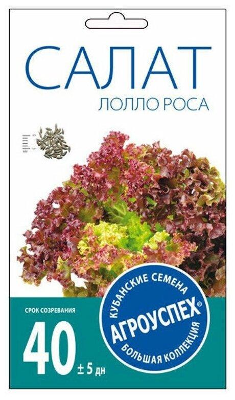 Семена Агроуспех Салат листовой Лолло Росса 0.5 г