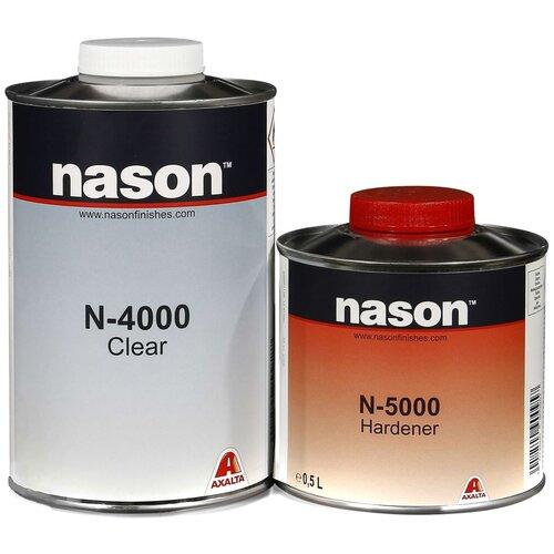 Комплект (автомобильный лак, отвердитель для лака) NASON N-4000 + N-5000 1500 мл