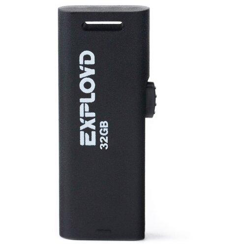 Фото - Флешка EXPLOYD 580 32 GB, black флешка exployd 580 64 gb black