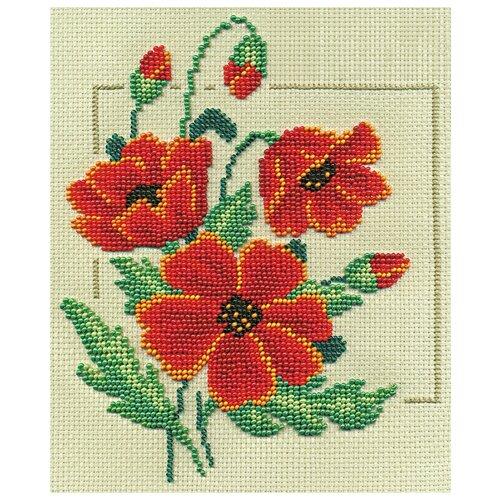 Купить PANNA Набор для вышивания бисером Цветок степи 18 х 20 см (C-0959), Наборы для вышивания