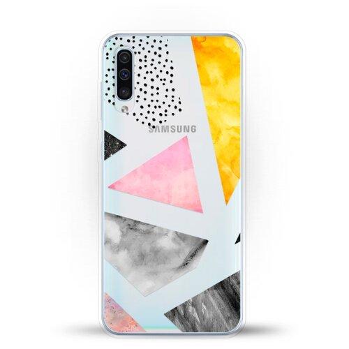 Силиконовый чехол Мраморные треугольники на Samsung Galaxy A30s