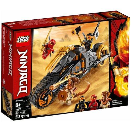 Фото - Конструктор LEGO Ninjago 70672 Раллийный мотоцикл Коула конструктор lego ninjago 70599 дракон коула