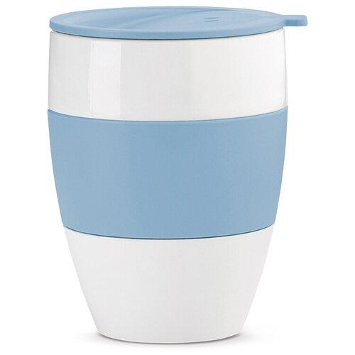 Термокружка Koziol Aroma to go 2.0, 0.4 л белый/голубой