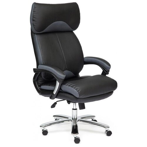 Фото - Компьютерное кресло TetChair Grand для руководителя, обивка: текстиль/искусственная кожа, цвет: черный/серый компьютерное кресло tetchair багги обивка текстиль искусственная кожа цвет черный серый